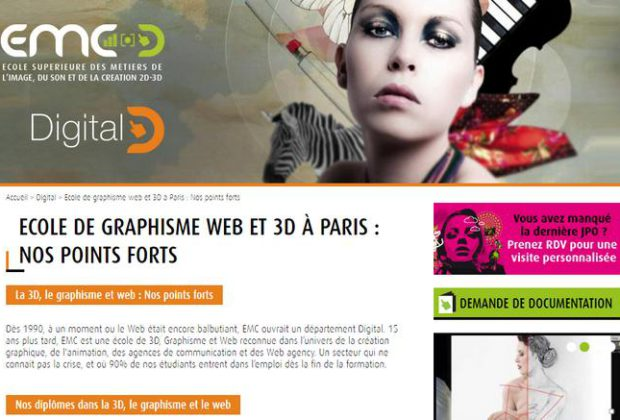 formation graphisme 3d paris